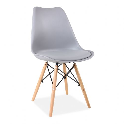 x4 Tulip Eiffel Dining Chairs, Light Grey